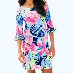 NWOT Lilly Pulitzer Sophie high tide ruffle floral